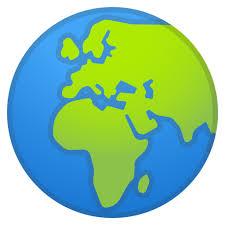 africa map emoji globe showing europe africa emoji terra emoji