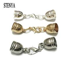 jewelry making necklace clasp images Stenya hole size 5 12mm necklace tassel round leather cord crimps jpg