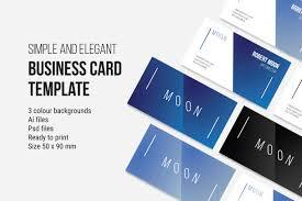 moon business card temmplate business card templates creative
