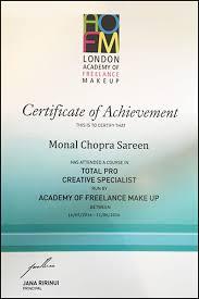 makeup artistry certification monal chopra sareen certified makeup artist