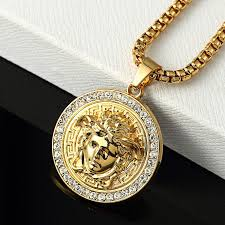 aliexpress buy ethlyn new arrival trendy medusa europe united states new medusa necklace hip hop rap trend fixing