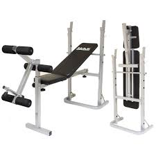 max fitness folding weight bench home gym exercise lift lifting