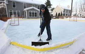 How To Make A Ice Rink In Your Backyard Ice By The Yard Families Enjoy Skating On Homemade Rinks