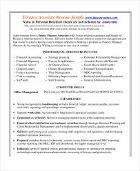 Finance Resume Sample by Free Finance Resume Templates 24 Free Word Pdf Documents