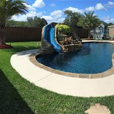 custom portable pool slides u0026 fiberglass residential water slide