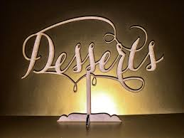 dessert bar sign wedding dessert table sign desserts table sign