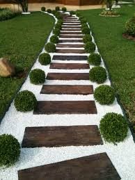 25 fabulous garden path and walkway ideas wood ladder stone and