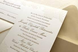 Letterpress Invitations Vintage Floral Lace Formal Letterpress Wedding Invitation Suite