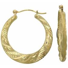 gold hoop earings simply gold 10kt gold hoop earrings walmart