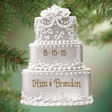 wedding cake ornament rainforest islands ferry