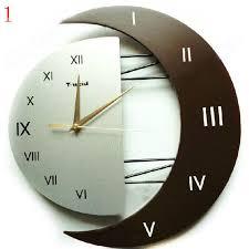 wall clocks elegant modern moon shaped creative wall clock beddinginn com
