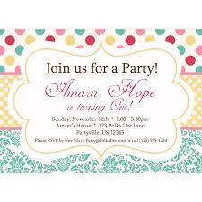 polka dot invitations polka dots invitations templates cactusdesigners