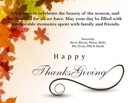 happy thanksgiving from hornstein offices