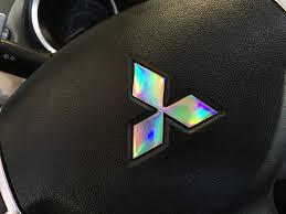 custom mitsubishi emblem mitsubishi logo laser spectrum decal set u2014 dragon laminates