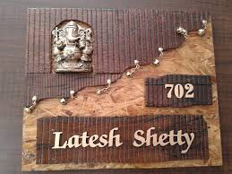Designer Name Plate Makers In Thane West Sanghvi Arts Call Us Now - Name plate designs for home