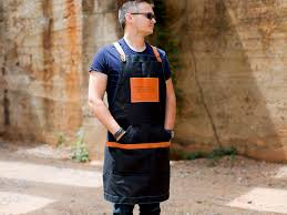 Personalized Mens Aprons Personalized Men U0027s Apron Cool Groomsmen Gift Canvas And Leather