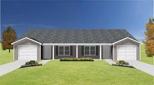 Duplex With Garage Plans Duplex Plan With Garage J0408 14d Plansource Inc