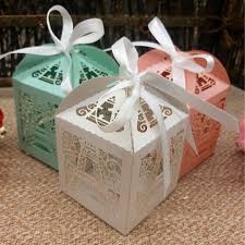 wedding candy favors 50pcs eiffel tower hollow out paper candy box wedding favors