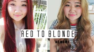 dying red hair light brown how to dye your hair from red to ash blonde at home beini wu