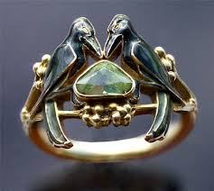 betrothal ring the betrothal to to hold nouveau ring by rené lalique on