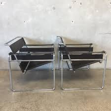 pair of mid century wassily italian chairs by marcel breuer for