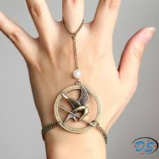 ring bracelet necklace images The hunger games mockingjay arrow bracelet and ring movie jewelry jpg