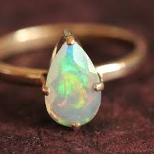 handmade wedding rings buy genuine opal engagement ring gift 18k gold opal wedding ring