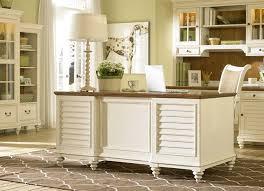 elegant antique white partner desk cm traditional home office in