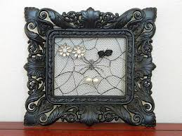 halloween frame craft lace picture frame earring holder