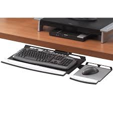 Computer Desk With Adjustable Keyboard Tray Office Suites Keyboard Tray Fellowes