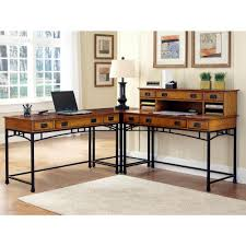 Crafstman by Home Styles Modern Craftsman 2 Piece Distressed Oak And Deep Brown