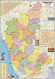 Large World Map Poster Karnataka Map Political Paper Print Maps Posters In India
