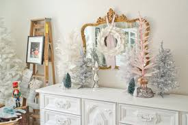 domestic fashionista pink u0026 white christmas dining room