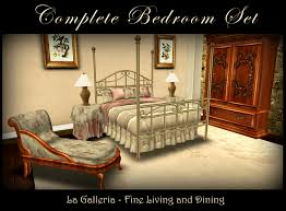 Brass Bedroom Furniture by Second Life Marketplace Dusty Rose And Brass Bedroom Set