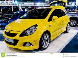 opel coupe opel corsa coupe front side mph editorial stock photo image
