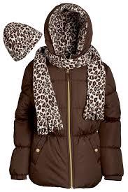 pink platinum girls hooded winter puffer bubble jacket coat