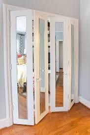 Mirror Bifold Closet Door Custom Size Mirror Bifold Closet Doors