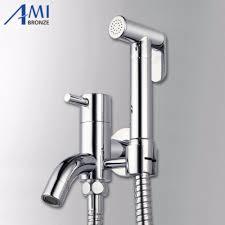 bidet shower handheld shower set chrome mixer tap with shower hose