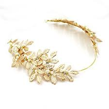 gold headbands goddess headband gold leaf crown headpiece