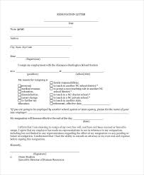 sample letters of resignation letter of resignation example