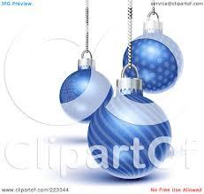 royalty free rf clipart illustration of three blue snowflake