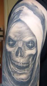 grim reaper tattoos grey ink tribal grim reaper on
