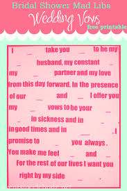 bridal mad libs mad libs wedding vows events to celebrate