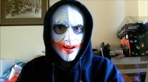 Joker Halloween Mask Wearing My Joker Latex Mask Youtube