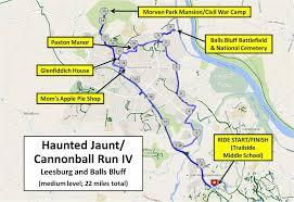 Map Of Loudoun County Va Haunted History Tour Part 2 Leesburg Va 22 Miles Moderate