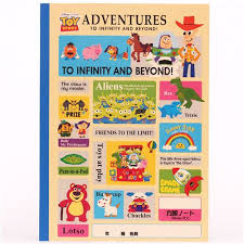colorful toy story characters notebook exercise book japan memo