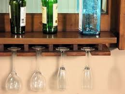 Bar Mirror With Shelves by Hand Crafted Solid Mahogany Wine Bottle U0026 Glass Rack Hanging Bar