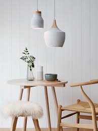 Modern Pendant Light by 14 Rooms Flawlessly Incorporating Spring U0027s Concrete Trend