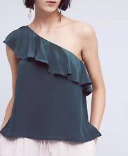 one shoulder blouse maeve one shoulder sleeve tops blouses for ebay