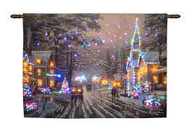 barnsley gardens christmas lights fibre optic memories of christmas hanging tapestry battery operated